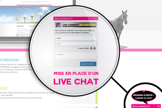 Installation d'un live chat sur un site